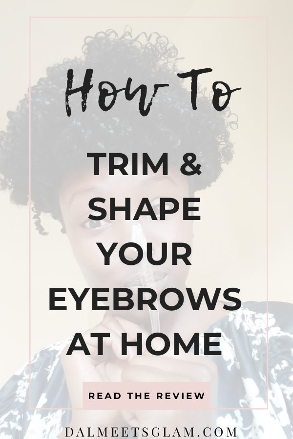 How to Trim Your Eyebrows at Home {Jasclair's Eyebrow Razor Review}