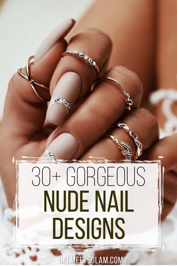30+ Cute Nude Nail Designs That Pair Well With All Outfits