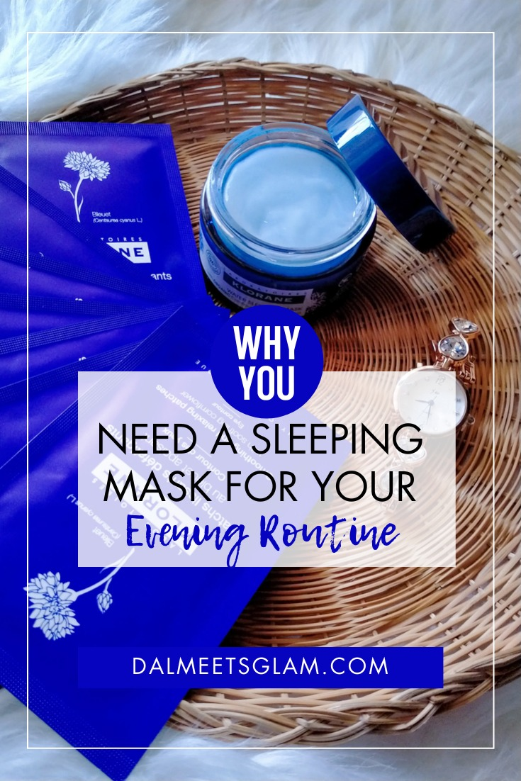 Need A Sleeping Mask For Your Face? I Tried Klorane's Revitalizing Water Sleeping Mask