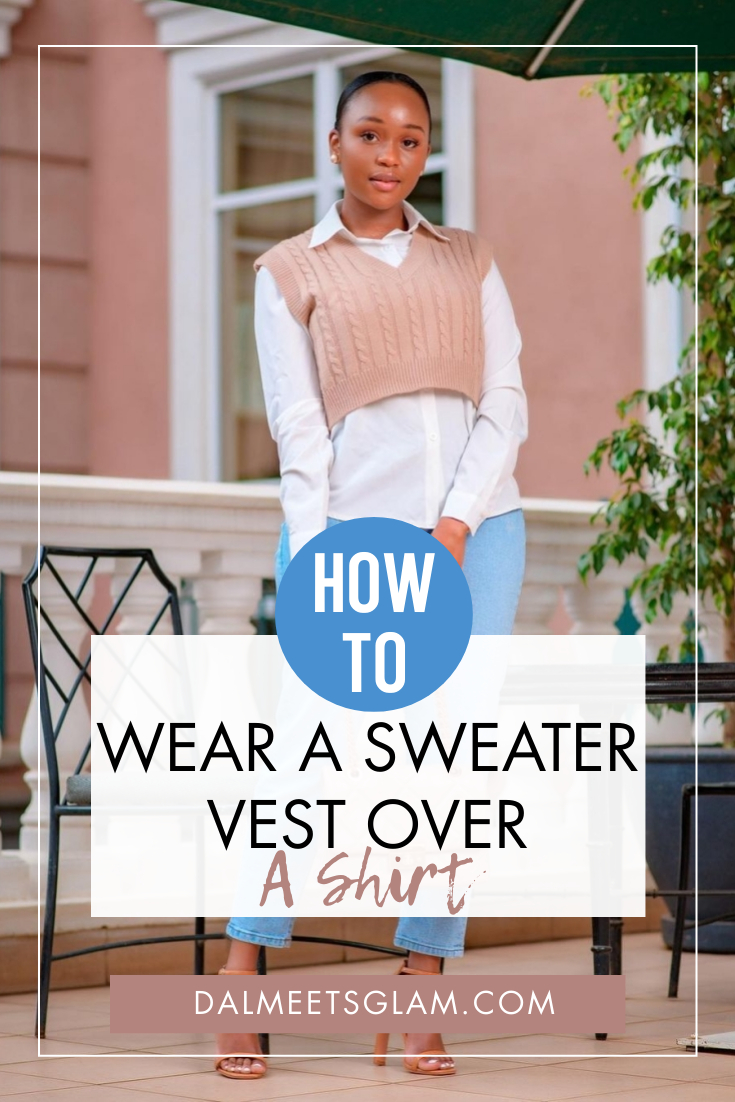 Fashionable Ideas To Wear A Sweater Vest Over A Shirt